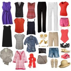 Two weeks in one suitcase 10 piece & capsule wardrobe sets r Capsule Wardrobe, Wardrobe Sets, Capsule Outfits, Fashion Capsule, Travel Wardrobe, Vacation Wardrobe, Summer Wardrobe, Vacation Packing, Travel Packing