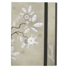 Creamy Gray Background Abstract Floral Tree #ipadaircases #abstract #trees #floral #monogrammed