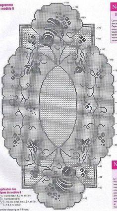 Mary Heklani Radovi I Sheme 187 Crochet Table Runner Pattern, Crochet Doily Patterns, Crochet Borders, Crochet Tablecloth, Thread Crochet, Crochet Doilies, Cross Stitch Patterns, Knit Crochet, Crochet Hats