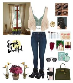 """""""Hello from the Other Side! """" by moonlightsilhouette ❤ liked on Polyvore featuring J Brand, Rosie Assoulin, Lime Crime, Kate Spade, Christian Dior, Smith & Cult, Hermès, Becca, maurices and Nearly Natural"""