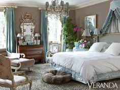 Atlanta Home by Designer Miles Redd featuring Oscar de la Renta Leopard carpet for elson & co.