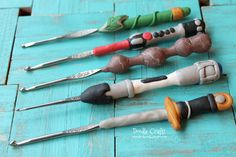 geeky crochet hooks oven bake clay sculpey fimo lord of the rings sonic screwdriver doctor who LOTR one ring lightsaber star wars excalibur ...
