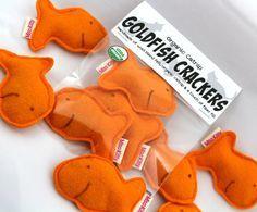 Catnip Cat Toy Goldfish Crackers