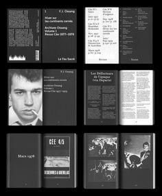 Amazing layout work from Parisian Graphic Design duoThomas Bizzarri and Alain Rodriguez.