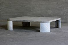 Reclaimed Elm and Stone Square Coffee Table with Curved Stone Base Custom Sizes Available