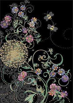 BugArt Jewels ~ Bee Flowers. JEWELS Designed by Jane Crowther.