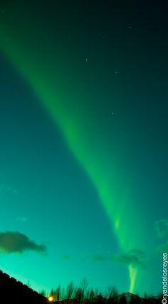 May 2013 aurora arc near Anchorage, Alaska.