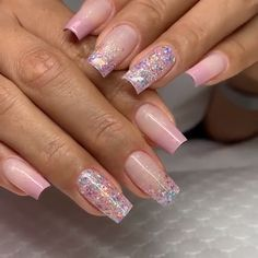 Nude colors and a little glitter always look chique ! Nail Art The best new nail polish colors and trends plus gel manicures, ombre nails, and nail art ideas to try. Get tips on how to give yourself a manicure. Marble Nail Designs, Pretty Nail Designs, Cute Nails, Pretty Nails, Glitter Nail Art, Nailart Glitter, Acrylic Nail Designs Glitter, Sparkle Nails, Bling Nails