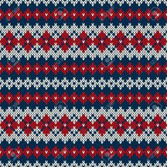 Vector illustration of knitted seamless pattern in traditional Fair Isle style Poster Fair Isle Knitting Patterns, Fair Isle Pattern, Knitting Blogs, Fair Isle Chart, Sweater Knitting Patterns, Knitting Charts, Knitting Stitches, Knitting Designs, Tejido Fair Isle