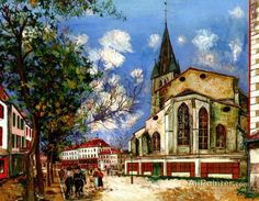 Maurice Utrillo The Church Of Saint-pierre In Orthez oil painting reproductions for sale