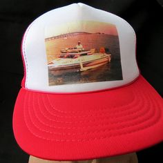 Vintage Custom Grandpa on a Boat in Florida Mesh Snapback Trucker Hat Cap OSFA #Yupoong #TruckerHat
