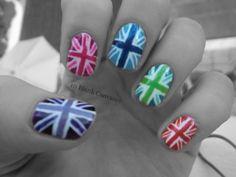 Yes or No? #indyref British Flag Nails