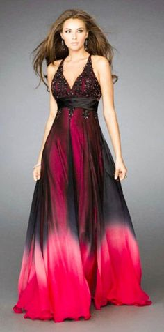Black and red wedding dress would be pretty for reception!