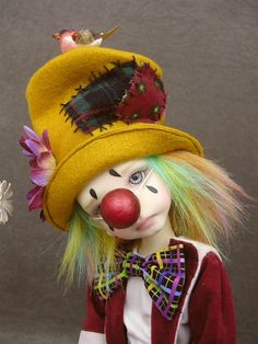Clown outfit for Kaye Wiggs MSD doll Maurice by MonsHauteCouture