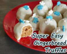 Gingerbread Truffles - 3 ingredients, amazingly simple and DELICIOUS.  Great for gifts, parties and just because you love gingerbread!