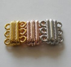 4X Strong Magnetic Necklace Clasps Jewellery DIY Bracelet Connectors 6mm PO
