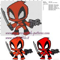 Deadpool patrón punto de cruz