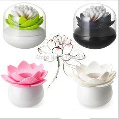 2014 New Lotus Cotton storage box swab box lotus cotton bud holder base room decorate / Lotus Toothpicks holder Toothpick case(China (Mainland))