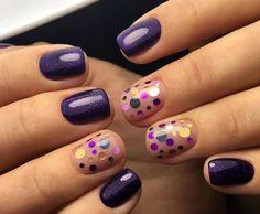 Маникюр Новый год 2017 новогодний дизайн manicure nails moda ногти гель-лак