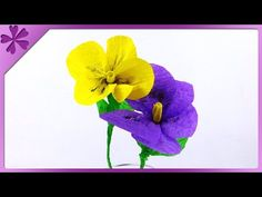 Today I will show you fast and easy way to make lily of the valley made from crepe paper. --- Needed items: scissors, floral wire, craft glue, pen, white and...