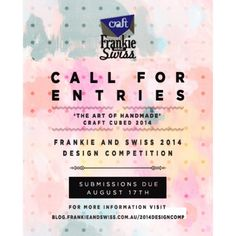 CALL FOR ENTRIES!!! We are running a fabric design competition in conjunction with our Open Studio event for the Craft Cubed Festival!   Whatever medium you create art with, whatever technique you use, from abstract art and traditional drawing to sketching, painting, or doodling—we're looking for it all! So start designing!   @craftvictoria #craftcubed #designcompetition #fabricdesign