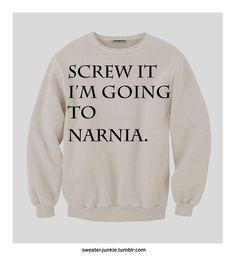 Pre-Order Narnia Or Bust Sweatshirt. $65.00, via Etsy.