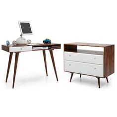Roswell Desk and Chest of Drawers Study Set