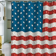 red white and blue shower curtain.  0562610291 YouTube 0508028171 Pinterest