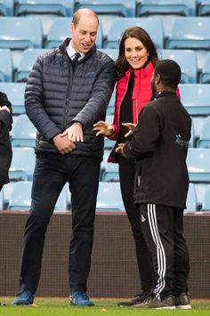 Prince William Duke of Cambridge and Catherine Duchess of Cambridge visits Aston Villa Football Club to see the work of the Coach Core programme on...