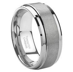 Tayloright J095C Tunsten Carbide 8mm Wedding Band at MWB