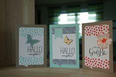 Gruß Karten mit dem Set Malerische Grüße von Stampin up