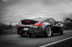 f111-brushed-grigio-nissan-370z-rear | by AvantGardeWheels