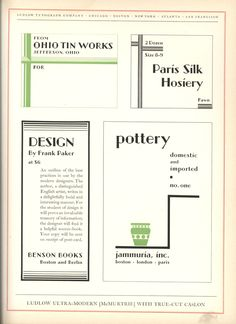 Typography TuesdayToday we present Ludlow Typefaces: A Specimen Book of Matrix…