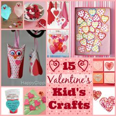 Valentine's Day Kid's Crafts. Love signs, Lillie's, felt fortune cookies, laced cards, owls and more