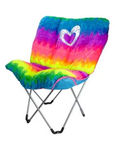 Faux Fur Rainbow Butterfly Chair   Girls Chairs Beauty, Room & Toys   Shop Justice