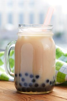 Almond Bubble Tea Recipe: This Dairy-Free Boba-Milk Tea has a double dose of almond and is a sweet vegan treat.