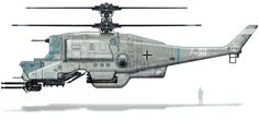 Nazi Helicopter from Wolfenstein: The New Order
