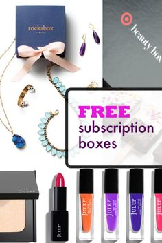 The ULTIMATE guide to FREE and CHEAP subscription boxes! #subscriptionbox #stitchfix