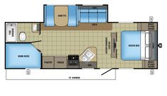 2017 Jay Feather 25BH Floorplan