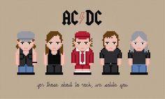 AC/DC PDF Cross Stitch Pattern | Craftsy