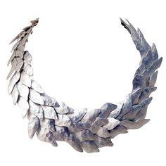 1stdibs | Eduardo Herrera Silver Scales Necklace