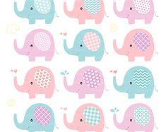 Lindo elefante Clip Art Elefante CLIPART por MoonberryDigitalArt