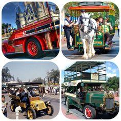 Main Street Vehicles: 03 - Firetruck - 04 - Horse-Drawn Streetcar - 05 - Horseless Carriage - 06 - Omnibus