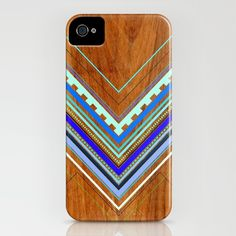Aztec Arbutus Blue iPhone & iPod Case