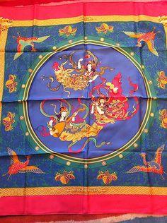 vintage silk Hermes scarf |