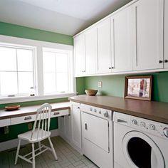 10 uses for vinyl tiles - Utility Sink Backsplash