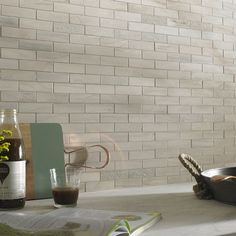 Tech Marble Beige Brick Mosaic 27x97mm