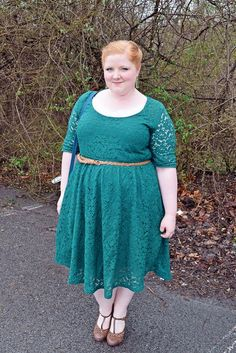 Wearing the green lace Harlow Dress from SWAK Designs for St. Patrick's Day!