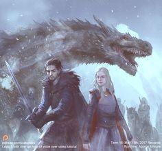 Daenerys and Jon by XiaTaptara.deviantart.com on @DeviantArt