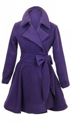Women's Paris Purple Coat by Jones and Jones